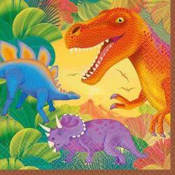 Serviettes papier Dinosaure 33x33cm  048419610748