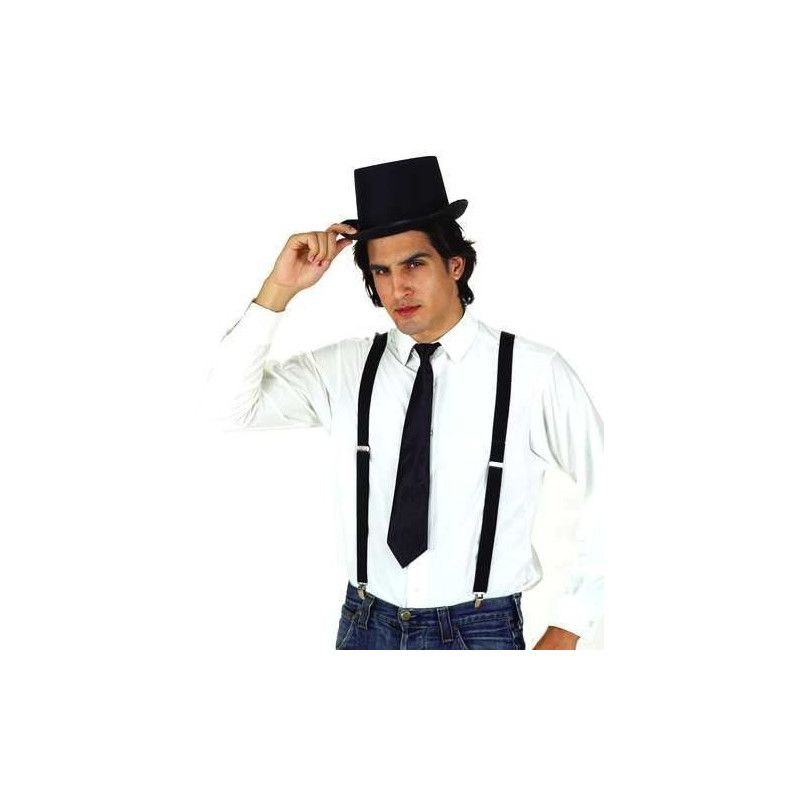 Accessoires de fête, Bretelles noires, 110244, 2,40€