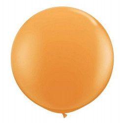 Déco festive, Ballon rond géant 80 cm orange, 5200-04, 2,90€