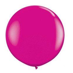 Déco festive, Ballon rond géant 80 cm fuschia, 5200-07, 2,90€