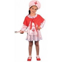 Déguisement Infirmière rouge et blanc fille 4-6 ans Déguisements 52064