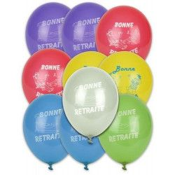 Ballons Bonne Retraite couleurs assorties x 10 Déco festive 5209-FRA