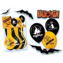 Ballons baudruche halloween assortis x 12 Déco festive 5210