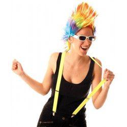 Bretelles fluo UV jaunes 80's Accessoires de fête 110268