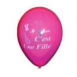 Ballons baudruche thème C'est une fille x 10 Déco festive 5216-FRA