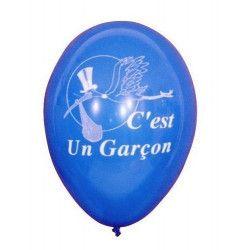 Ballons baudruche thème C'est un garçon x 10 Déco festive 5218-FRA