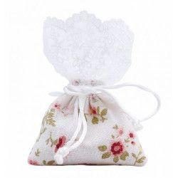 Pochon shabby x 5 jute et dentelle 11 cm Cake Design 11027