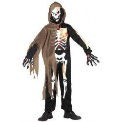 Déguisements, Déguisement garçon squelette taille 4-6 ans, 5265, 19,90€