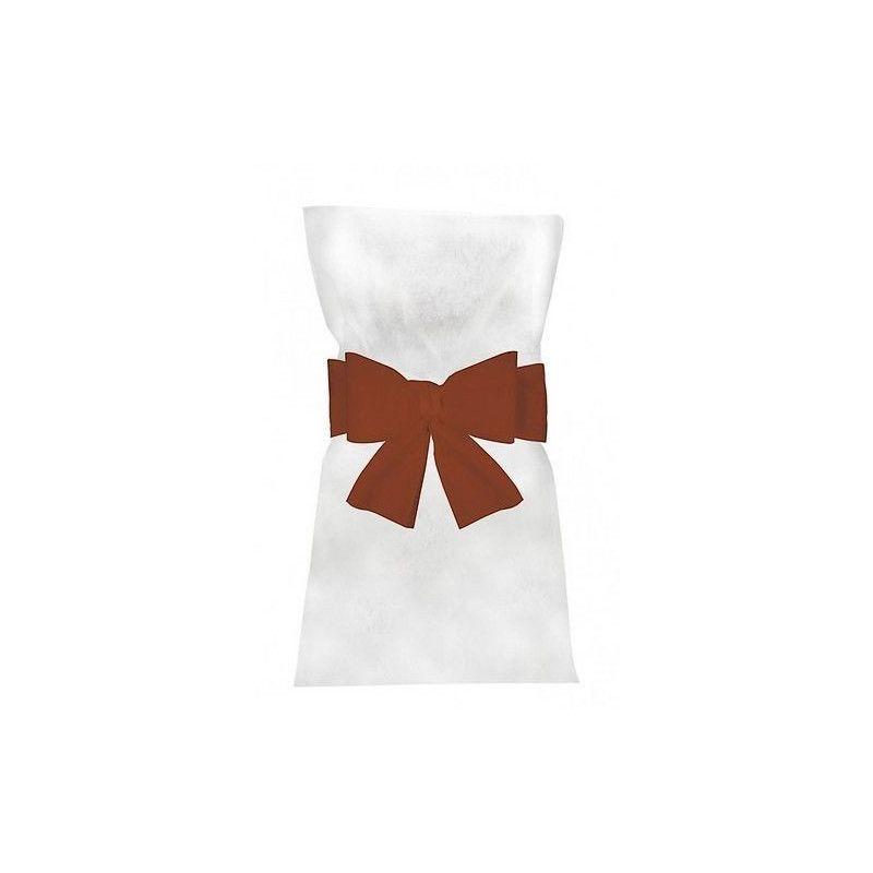 Noeuds rouges pour 6 housses de chaises Déco festive 1103-02