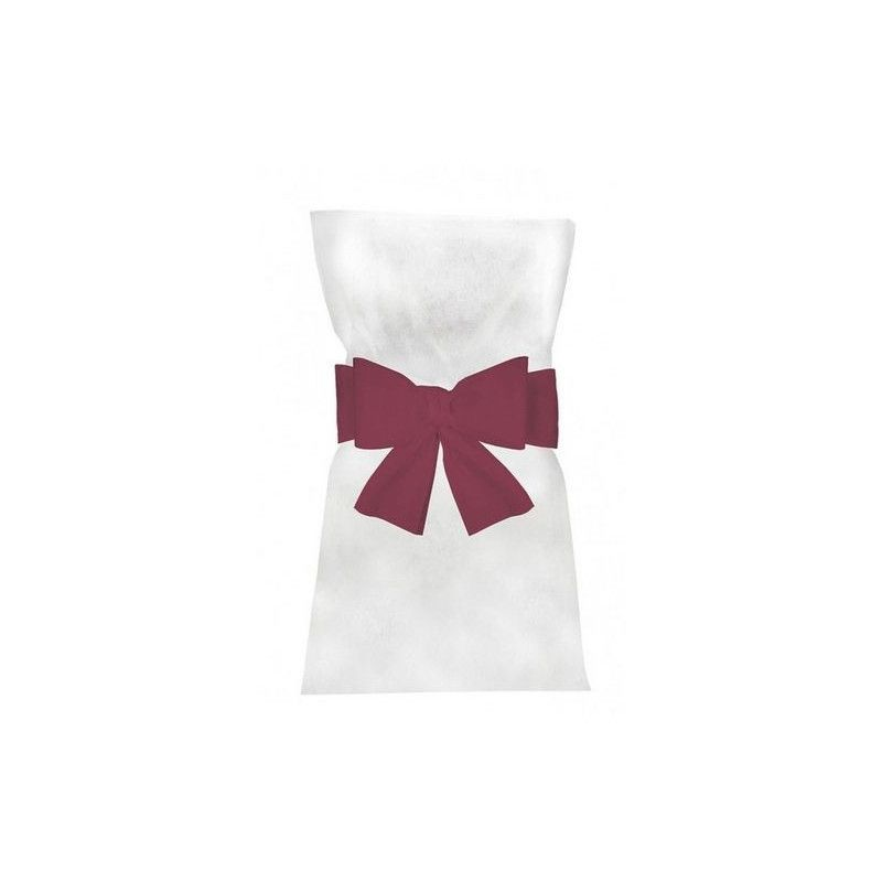 Noeuds fuchsia pour 6 housses de chaises Déco festive 1103-05