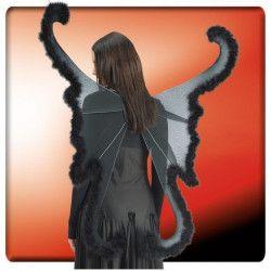 Ailes noires de papillon avec marabout 110x92cm Accessoires de fête 5392