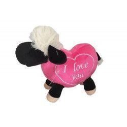 Peluche mouton avec coeur 20 cm Jouets et kermesse 5411