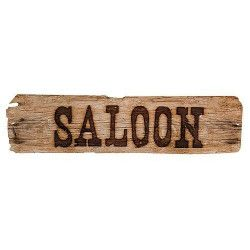 Bannière marron Saloon 60 cm Déco festive 54354