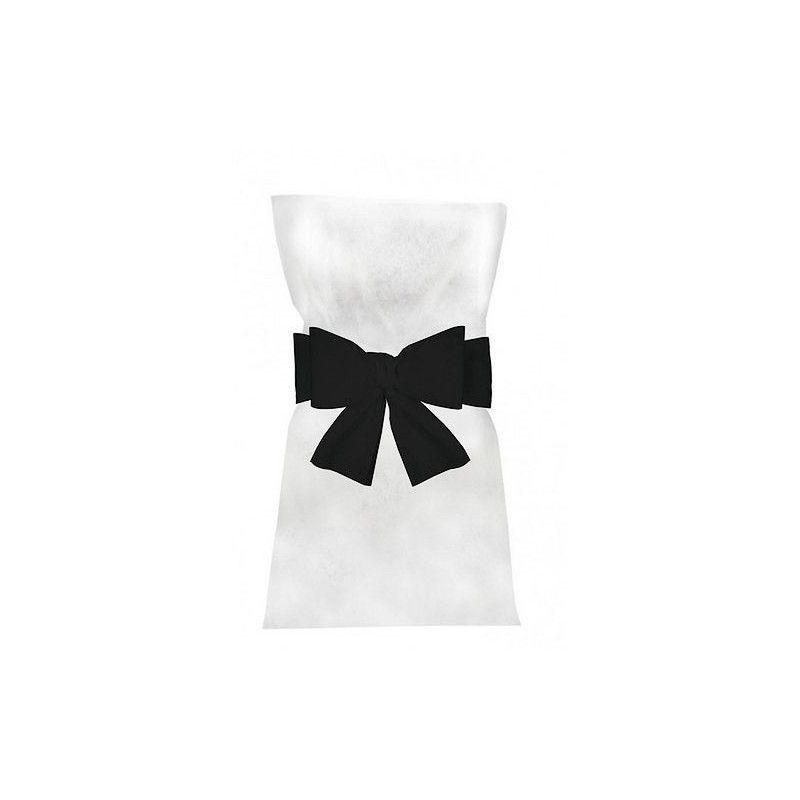 Noeuds noirs pour 6 housses de chaises Déco festive 1103-10
