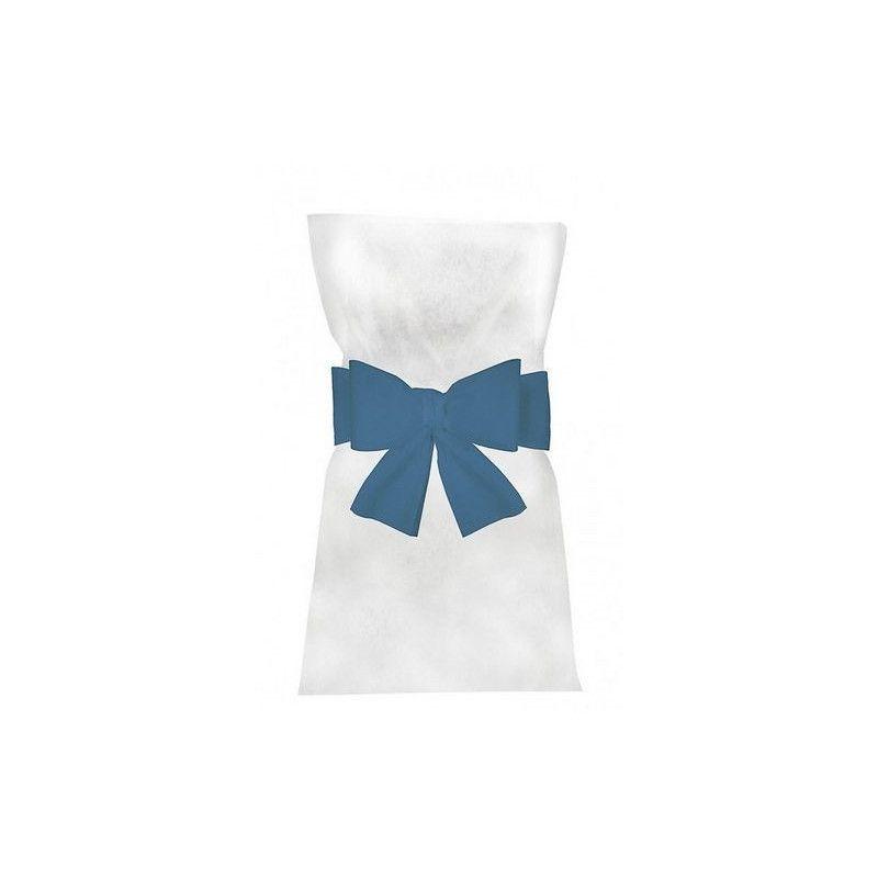 Noeuds turquoise pour 6 housses de chaises Déco festive 1103-12