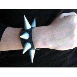 Bracelet Punk vinyl avec pointes Accessoires de fête 55003