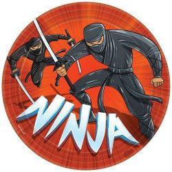 Assiettes jetables Ninja x 8 Ø 23 cm Déco festive 551587