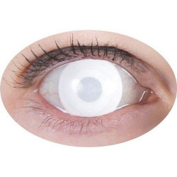 Lentilles de contact fantaisie- oeil blanc Accessoires de fête 55331