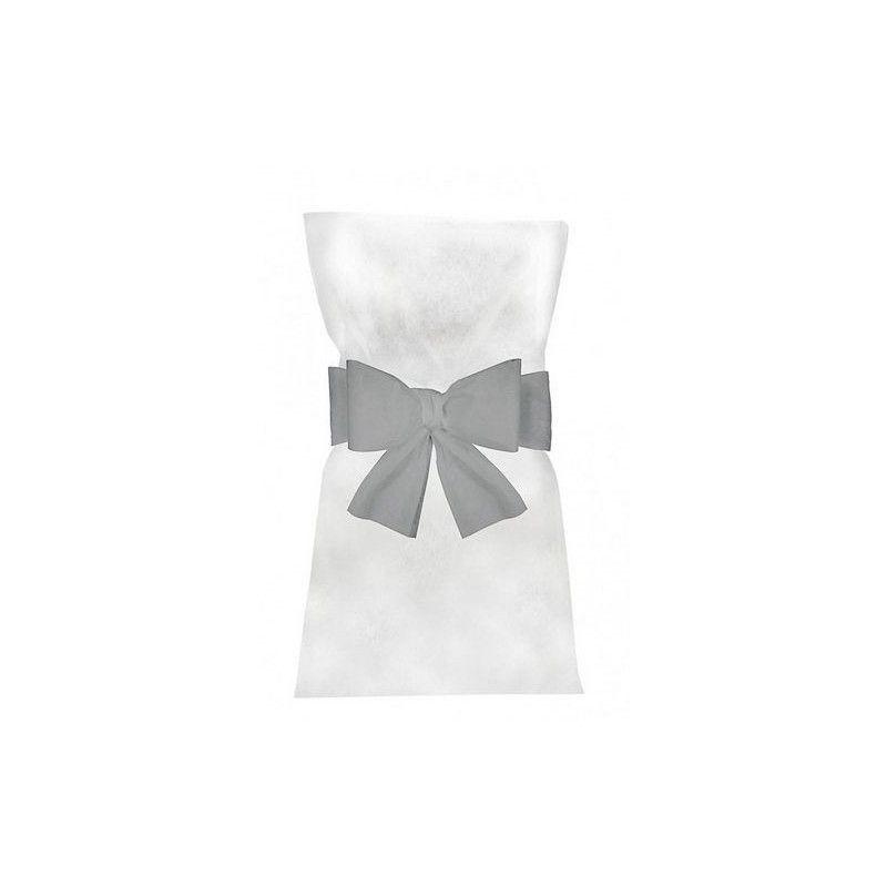 Déco festive, Noeuds gris pour 6 housses de chaises, 1103-21, 2,95€