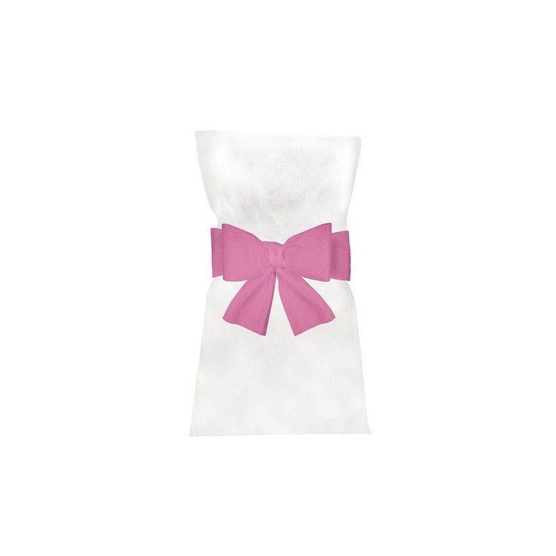 Noeuds rose pastel pour 6 housses de chaises Déco festive 1103-32