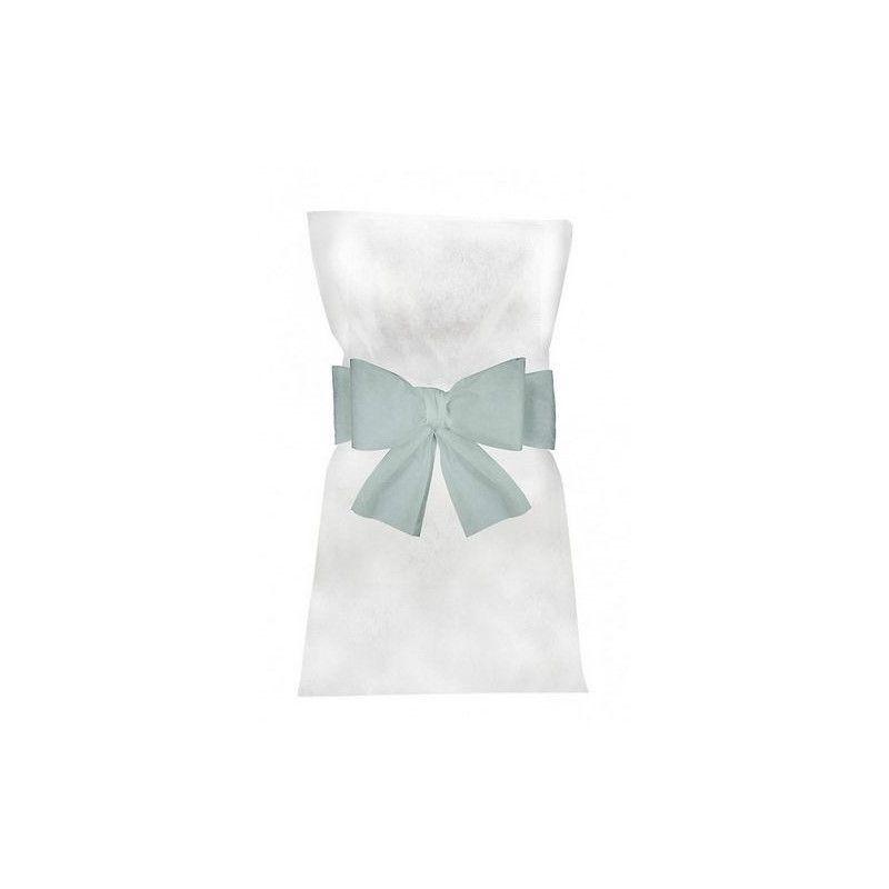 Noeuds bleu pastel pour 6 housses de chaises Déco festive 1103-35