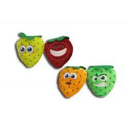 Peluche fraise visage 10 cm Jouets et articles kermesse 57549