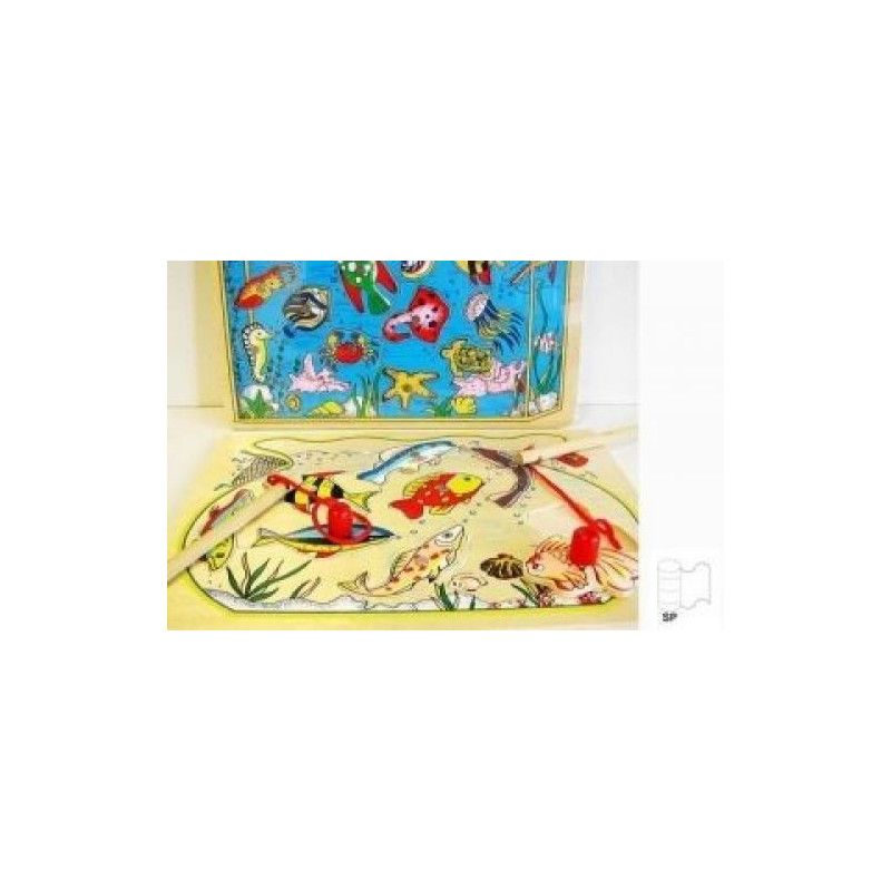 Pêche à la ligne bois magnétique Jouets et articles kermesse 58559