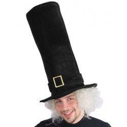 Chapeau noir forme tube hauteur 50 cm Accessoires de fête 5887