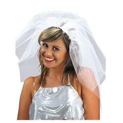 Voile blanc de mariée avec serre-tête Accessoires de fête 5889