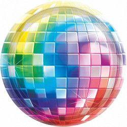 Assiettes jetables Disco Fever x 8 Ø 26 cm Déco festive 591222