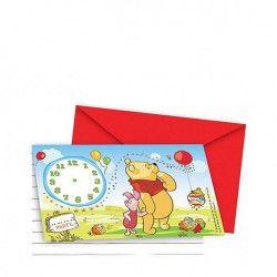 Déco festive, Cartes d'invitation Winnie avec enveloppes, 5954, 1,90€