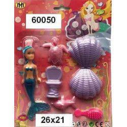 Blister sirène avec accessoires Jouets et articles kermesse 60050
