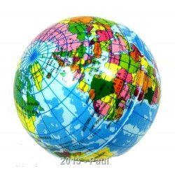 Balle en mousse motif globe terrestre 6 cm vendu par 24 Jouets et articles kermesse 6019-LOT
