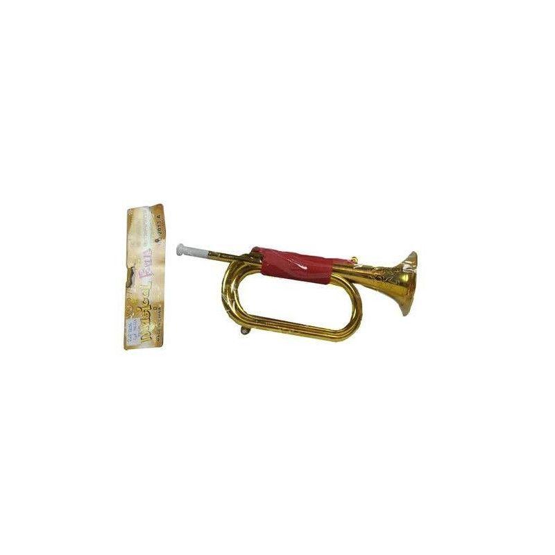 Jouets et kermesse, Trompette dorée 34 cm en plastique, 6036, 1,45€
