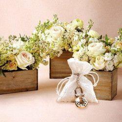 Déco festive, Pochon dentelle blanche mariage x 5, 11044, 3,90€
