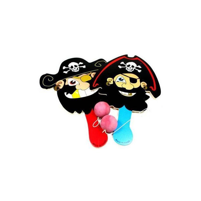 Jeu paddle-ball pirate en bois 22 cm vendu par 24 Jouets et kermesse 6047-LOT