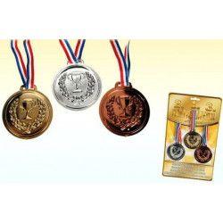 Jouets et kermesse, Médaille plastique avec ruban, 6 cm, 611044, 2,38€