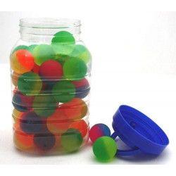 Balle rebondissante coloris assortis vendue par 48 Jouets et kermesse 6144-LOT