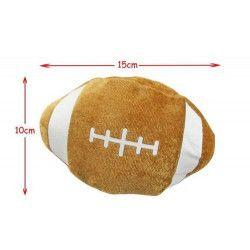 Balle de rugby en peluche marron 15 cm vendue par 24 Jouets et articles kermesse 61973-LOT