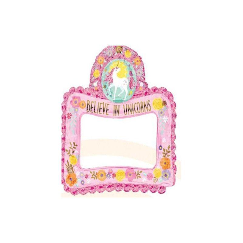 Cadre gonflable pour selfie licorne 68 cm Déco festive 110477-01