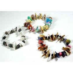 Bracelet coquillages vendu par 12 Jouets et articles kermesse 6212-LOT