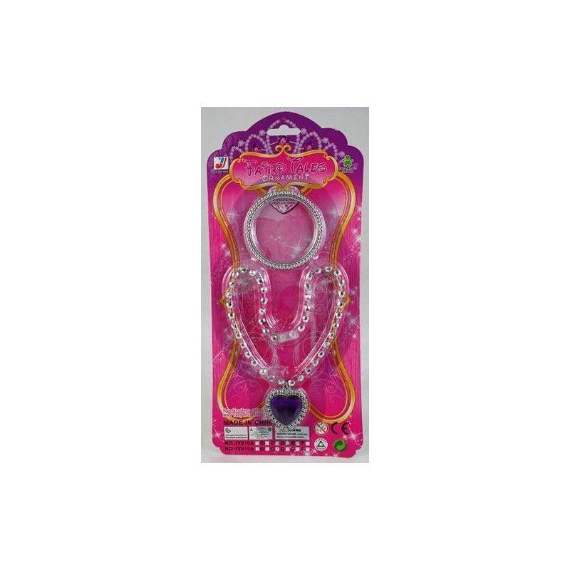 Jouets et kermesse, Set de bijoux princesse collier et bracelet, 6218, 0,76€