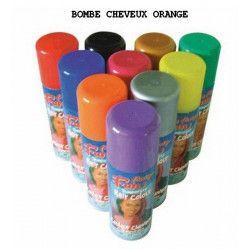 Bombe cheveux 125 ml - Orange Accessoires de fête 631359