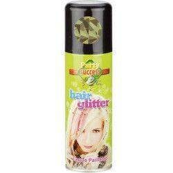 Bombe cheveux paillettes or 125 ml Accessoires de fête 631386