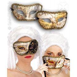 Masque vénitien en papier mâché décoré Accessoires de fête 637