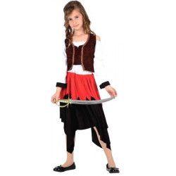 Déguisements, Déguisement fille Pirate taille 4-6 ans, 6404, 10,90€