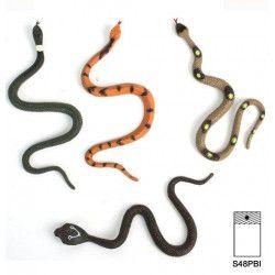 Serpent 17 cm en plastique vendu par 48 Jouets et kermesse 11157-LOT