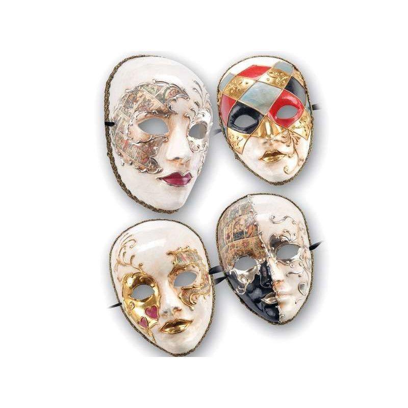 Masque carnaval en papier mâché décoré Accessoires de fête 641