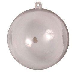 Déco festive, Boule décorative transparente diamètre 16 cm, 642TR, 5,90€