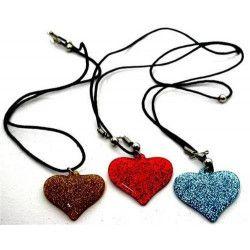 Collier coeur scintillant vendu par 48 Jouets et kermesse 6450-LOT